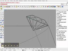 построение перстня Rhino Cad, Rhinoceros 5, Rhinos, 3d Modeling, Autocad, Ring Designs, Jewelry Design, Sketch, Tutorials
