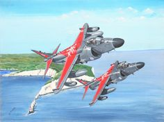 Part of Derrick Dickens' Fleet Air Arm Collection and book on the FAA 'Stringbag to Shar' - acrylic on canvass Aircraft Painting, Airplane Art, Historical Art, Aviation Art, Royal Navy, Military Art, Military Aircraft, Planer, Fighter Jets