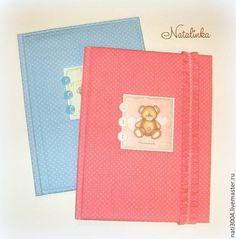 Обложки-папки для детских документов - голубой,розовый,обложка для свидетельства