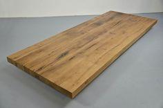 Tischplatte Altholz Eiche 8cm nach Maß