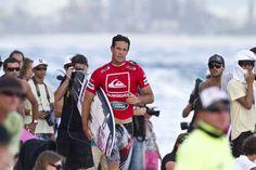 #QUIKSILVER & #ROXY PRO GOLD COAST 2011 . www.worldsurfleague.com  JordySmith rumblesdown the beach enroute to taking out Coolangatta'sfavorite son, Joel Parkinson. He'll face Portugal's Tiago Pires tomorrow./WSL/Checky/WORLD SURFLEAGUE #Roxy #Quiksilver Pro & #Roxy Pro Gold Coast 2011 WORLD  SURF LEAGUE www.worldsurfleague.com