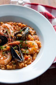 Fregola Sarda with Seafood