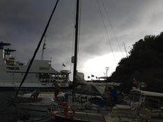 Agosto 2013. Il pontile del #Porto Nuovo durante un temporale.
