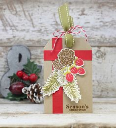 Season's Greetings Tag by Laurie Willison for Papertrey Ink (October 2016)