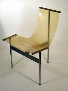 William Katavolos, Ross Littell and Douglas Kelley; Steel and Plastic 'T' Chair for Laverne International, 1952.