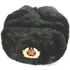 Hat Russian Soviet Army Black KGB * Fur Military Cossack Ushanka * Size L Russian winter hat - Ushanka. Military style with Soviet Red Star badge.. New, never worn. Direct from the factory. Made in Russia.. Size L [metric-60, USA - 7 1/2 (23.5 around]. Please check your size before buy it! If you need another size, e-mail to confirm availability. The hat comes with the badge attached (removable... #RussianOrnaments #Single_Detail_Page_Misc