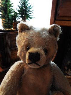 Steiff Mohair Teddy Bear Well Loved by BallentinesAntiques on Etsy