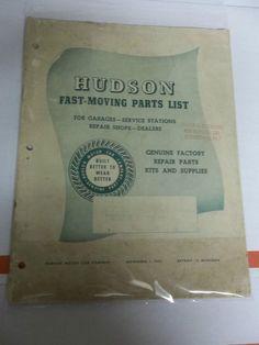 vintage HUDSON FAST-MOVING PARTS LIST November 1953 Hudson Motor Car Company