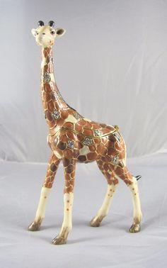 New Trinket Box Gift Crystals Skyscraper Giraffe Animal Necklace