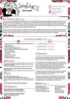 Creative Resume/CV - Jessica Parker - Fashion by JSWoodhams.deviantart.com on @DeviantArt