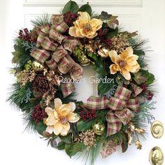 Navidad corona guirnalda-invierno-vacaciones de por ReginasGarden