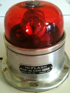 Grimes Manufacturing Company Hi-Flash rotating police beacon (red dome) Police Vehicles, Police Cars, Radios, Urbana Ohio, 4x4, Lights And Sirens, Police Lights, 1st Responders, Beacon Lighting