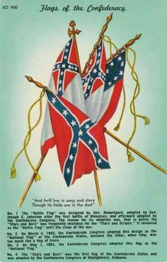Flags of the Southern Confederacy. [><]