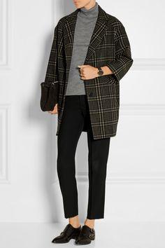 TITLE A | Manteau en laine mélangée à motif tartan | NET-A-PORTER.COM