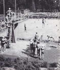 Het buitenbad in Wageningen in de jaren '60