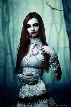 DeviantArt: More Like Vampire Beauty XI by SamBriggs Vampire Kiss, Vampire Love, Female Vampire, Vampire Art, Arte Horror, Horror Art, Dracula, Zombies, Dark Fantasy