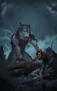 Hermorrhage by Royzilya on Arte Furry, Furry Art, Fantasy Wolf, Dark Fantasy Art, Fantasy Creatures, Mythical Creatures, Wolf Warriors, Werewolf Art, Furry Wolf