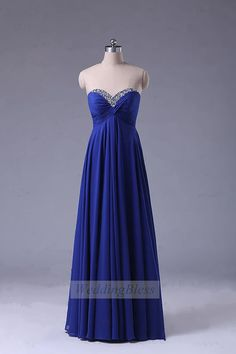 Cobalt Blue Bridesmaid DressSweetheart Prom Dress by WeddingBless........ I like this but maybe with strap(s)