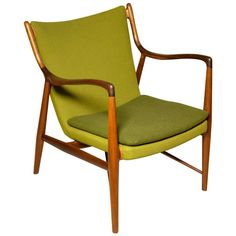 Exceptional early Finn Juhl NV45 chair Padouk/Teak | From a unique collection of antique and modern lounge chairs at http://www.1stdibs.com/furniture/seating/lounge-chairs/
