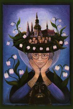 Emma Srncová Anime, Painting, Image, Art, Little Cottages, Art Background, Painting Art, Kunst, Cartoon Movies
