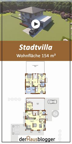 City villa - This 154 m² city villa was planned by a young family with me. It was very important for the childr - Modern House Plans, House Floor Plans, Tuscan Style Homes, Modern Mansion, Mansions Homes, Architecture Plan, Residential Architecture, Well Thought Out, Small House Design