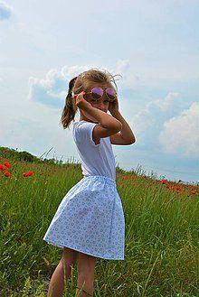 ddf4ddc2c3ea Celesta bavlnená sukňa srdiečková   jezibabka - SAShE.sk - Handmade ...