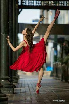 Red ballet dancer