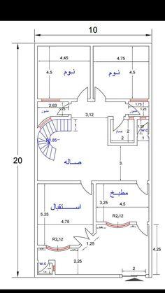 خرائط Square House Plans, 3d House Plans, House Plans Mansion, Modern House Plans, Architectural Design House Plans, Architectural Engineering, Front Elevation Designs, House Elevation, Home Map Design
