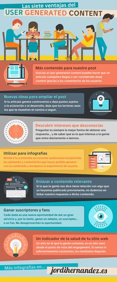 LOS 7 BENEFICIOS DEL USER GENERATED CONTENT #INFOGRAFIA #INFOGRAPHIC #MARKETING