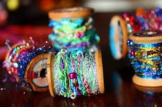 Lots of great crafty ideas for old spools.--guess who has a ton of old spools....