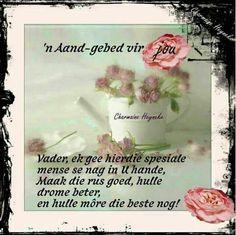 Aand gebed Good Night Blessings, Goeie Nag, Goeie More, Afrikaans Quotes, Prayer Board, Good Morning Good Night, Sleep Tight, Simple Life Hacks, Night Quotes