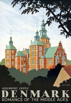 A SLICE IN TIME Denmark Danish Rosenborg Castle Europe Vintage Travel Art Advertisement Collectible Wall Decor Poster Print. Measures 10 x inches Retro Poster, Poster Art, Vintage Travel Posters, Poster Prints, Art Posters, Denmark Tourism, Denmark Travel, Pub Vintage, Photo Vintage