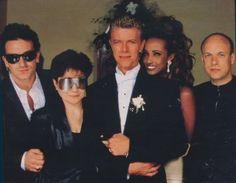 David Bowie and Iman's Wedding - Seriously? Bono, Yoko, and Brian Eno.