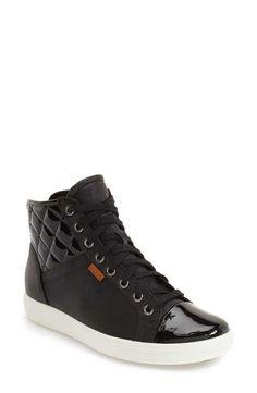 a98d80e480a1 ECCO  Soft 7  Quilted High Top Sneaker (Women)
