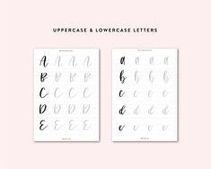 Free Hand Lettering Worksheets