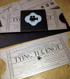 These are cool and different wedding invitations.
