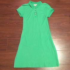 Talbots Preppy Green & White Polka Dot Polo Dress Talbots Preppy Green & White Polka Dot Polo Dress. Excellent Condition!! (Zero Flaws!) Petites Small. J.Crew Style. Talbots Dresses