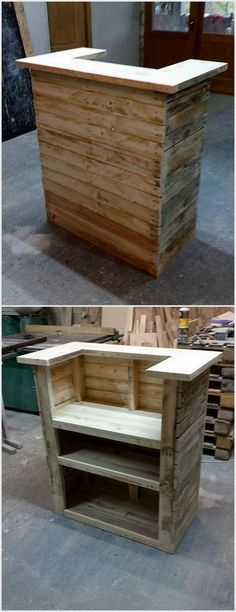 Wood Pallet Mini Bar