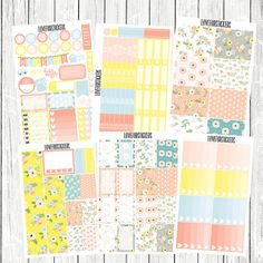 Flowery Garden Weekly Kit for Erin Condren Vertical Life Planner includes 180 stickers. Stickers are kiss-cut & printed on matte sticker paper.
