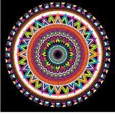 Mandala de Picos multicolor