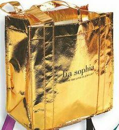 Gold Metallic Shopper Bag