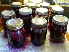The blueberries are ripening late this year. Last year the first pick was ready by the time I got home from Portland ; this year, I just fi. Canning Tips, Home Canning, Canning Recipes, Canning Food Preservation, Preserving Food, Canned Blueberries, Blueberry Farm, Dish Display, Emergency Preparation
