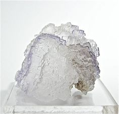 Blush of Purple Zoned Fluorite Crystal Cluster by FenderMinerals,