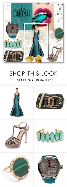 """""""Christmas Fashionista!!"""" by stylediva20 on Polyvore featuring Monique Lhuillier, Schutz, Elizabeth Cole, Ginette NY and John Isaac"""
