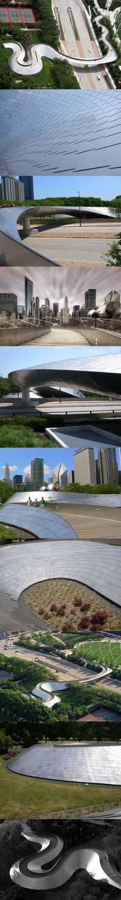 Frank Gehry BP Bridge, Millennium Park, Chicago