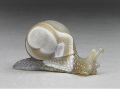 carved Banded Agate Snail By Stefan Klein, Herbert Klein KG Idar-Oberstein, Germany