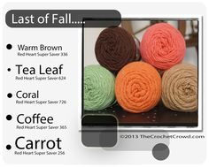 Red Heart Super Saver Color Mix: Last of Fall