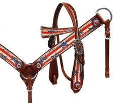 Stars & Stripes Headstall and Breast Collar Set