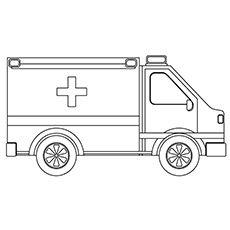 Lastebil Coloring Pages Ambulance