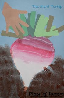 Art and Literature!  The Giant Turnip, incorporating letter V (V is for vegetables).